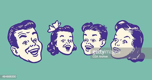 illustrazioni stock, clip art, cartoni animati e icone di tendenza di la famiglia - cantare
