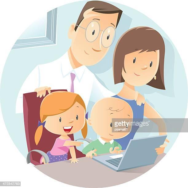 illustrations, cliparts, dessins animés et icônes de la famille - parents