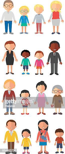 familie - erwachsene person stock-grafiken, -clipart, -cartoons und -symbole