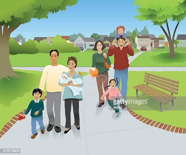 Family Walk で、公園