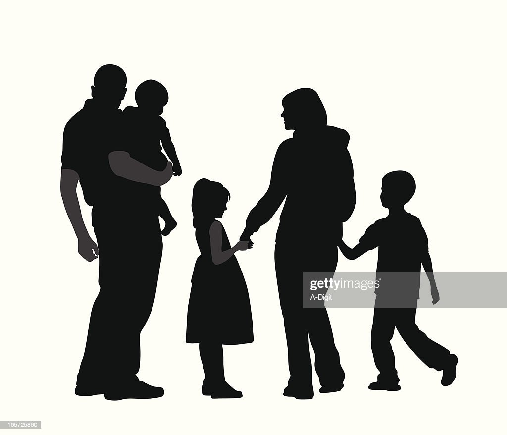 family ways vector silhouette vector art getty images rh gettyimages com family silhouette vector free download family silhouette vector png