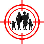 Family with children target. Under aim.