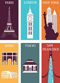 Famous cities.