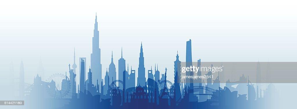 famous landmarks cityscape
