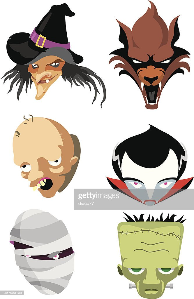 Famous Monster Heads