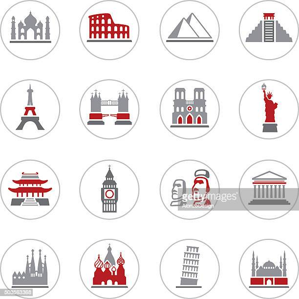 famous place icons - easter island stock illustrations, clip art, cartoons, & icons