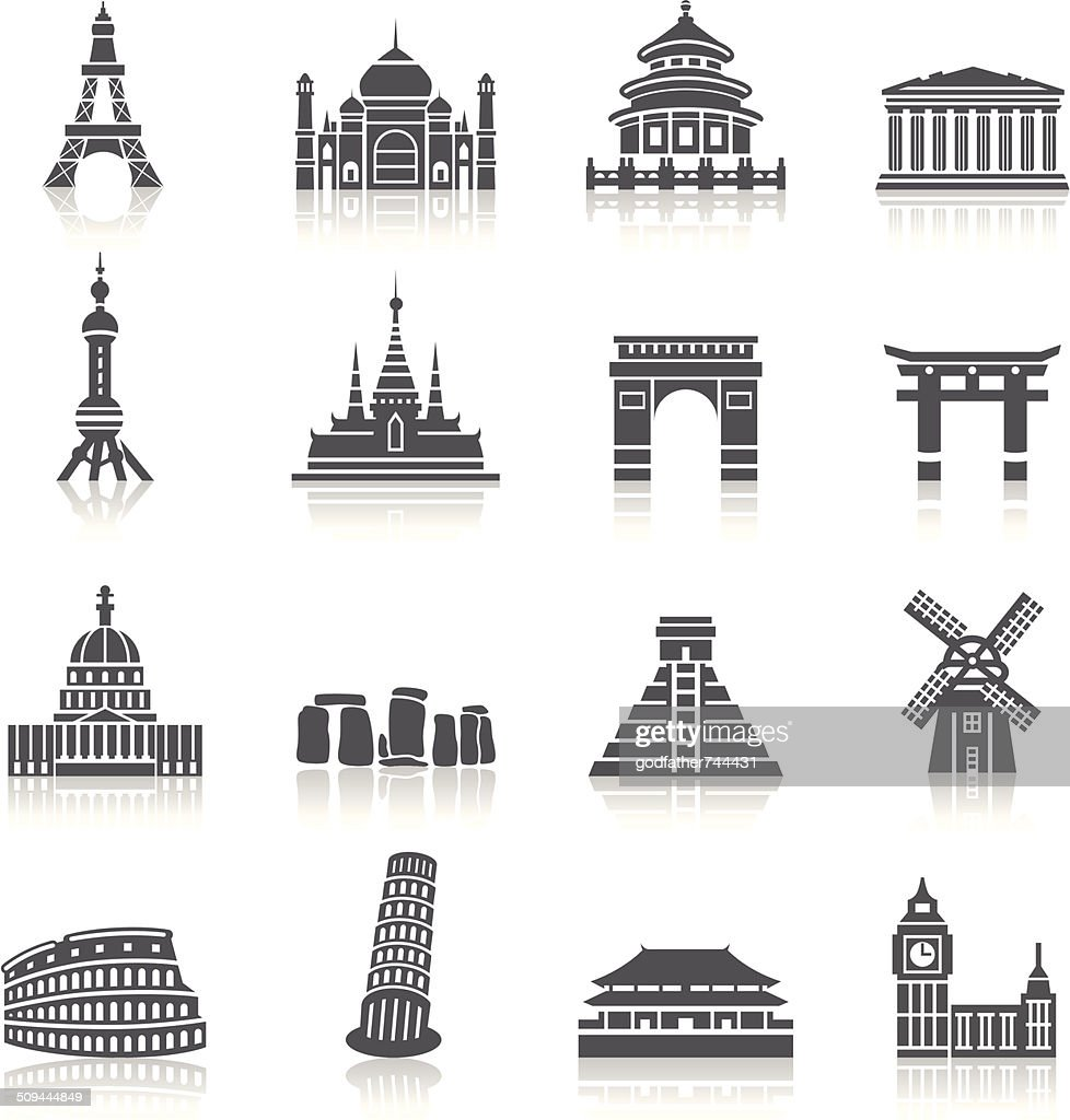 Famous Scenic Spots Icons