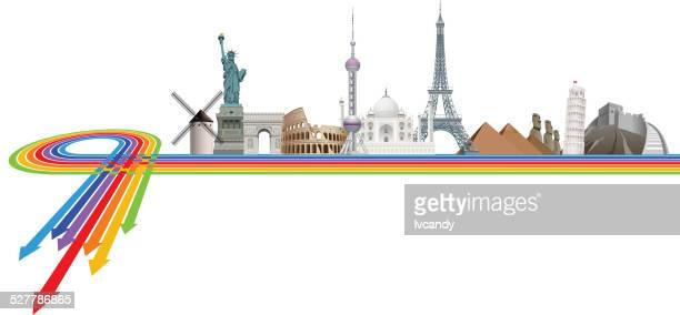 famouse landmarks - tours france stock illustrations, clip art, cartoons, & icons