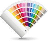 Fan color isolated on white vector