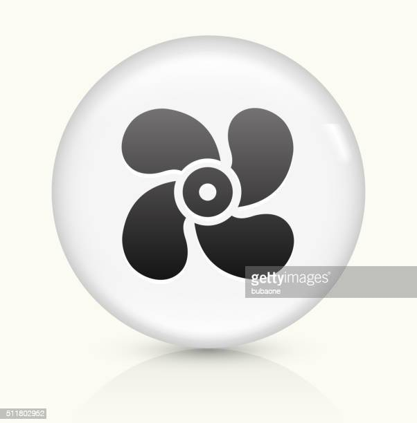 Fan icon on white round vector button