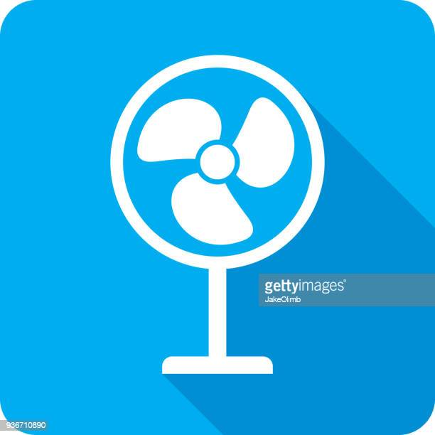 fan icon silhouette - electric fan stock illustrations