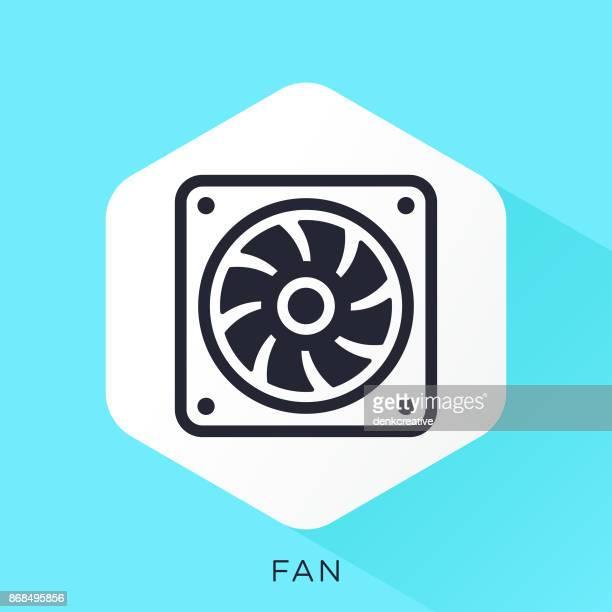 fan icon - electric fan stock illustrations, clip art, cartoons, & icons