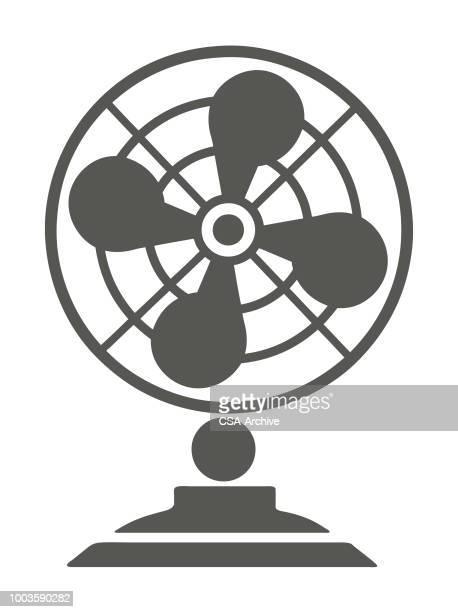 fan - electric fan stock illustrations, clip art, cartoons, & icons