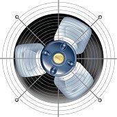 Fan - ventilator on white background