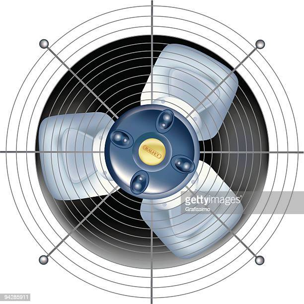 fan - ventilator on white background - electric fan stock illustrations