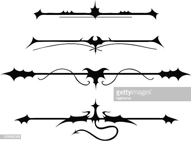 fanciful gothic ornamentation ii - 1 credit - gothic style stock illustrations, clip art, cartoons, & icons