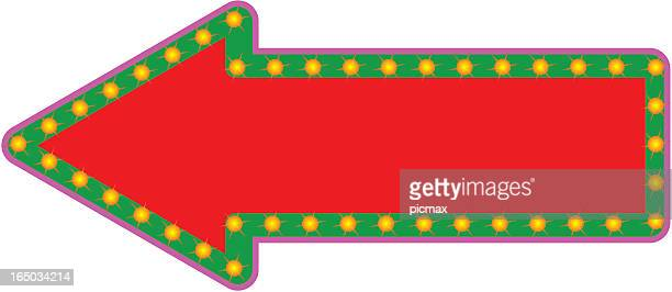 fancy arrow sign with twinkling lights - blink stock illustrations, clip art, cartoons, & icons