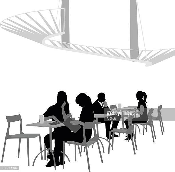 Fancy Cafe Vector Silhouette
