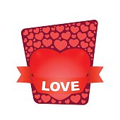 Fancy card with the message of love.