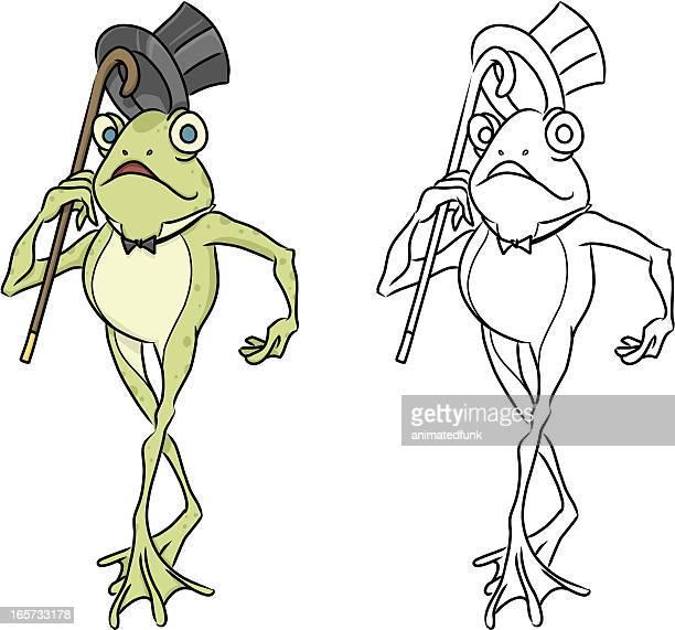 Fancy Cartoon Frog