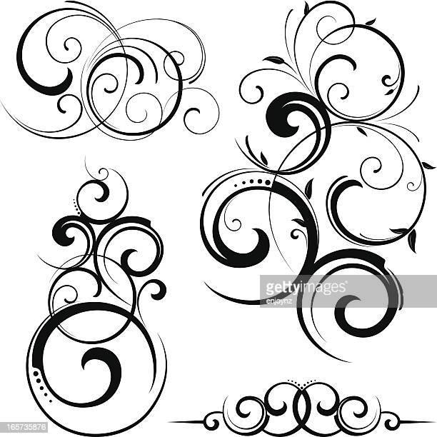 Fancy decorative scrolls