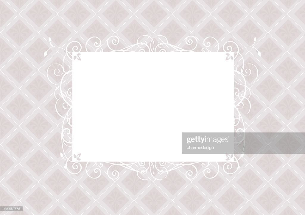 fancy frame invitation template vector art getty images