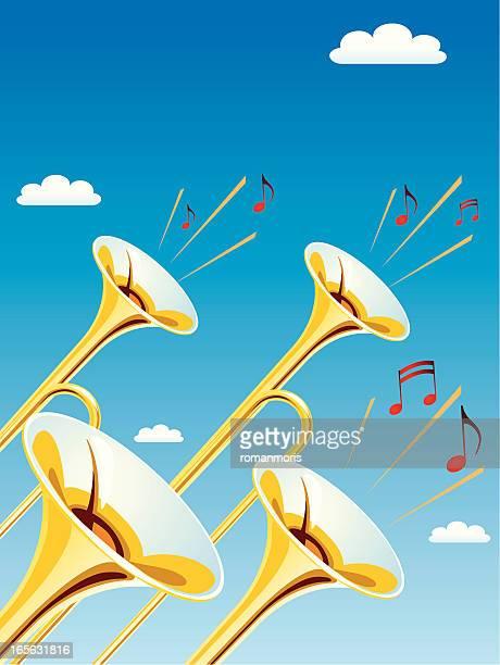ファンファーレ trumpets - ブラスバンド点のイラスト素材/クリップアート素材/マンガ素材/アイコン素材