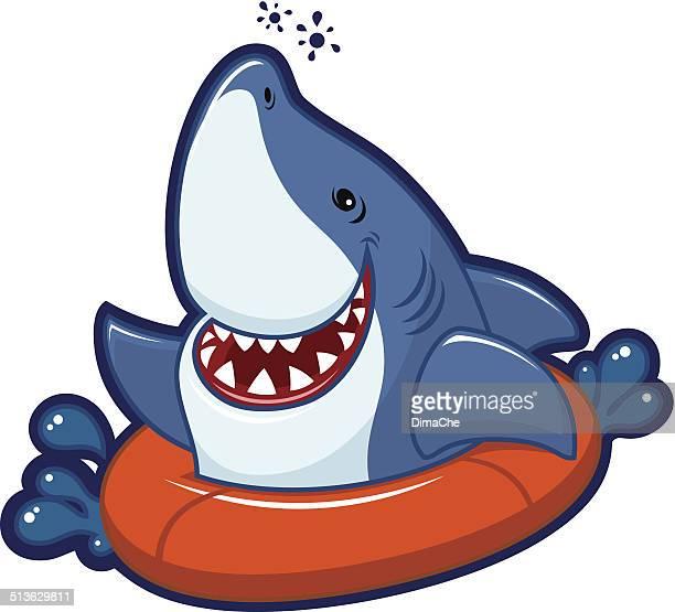 illustrations, cliparts, dessins animés et icônes de fanny requin - requin