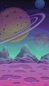 Fantastic alien landscape
