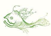 Fantastic green fish.