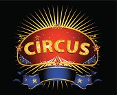 Fantastic red circus sign