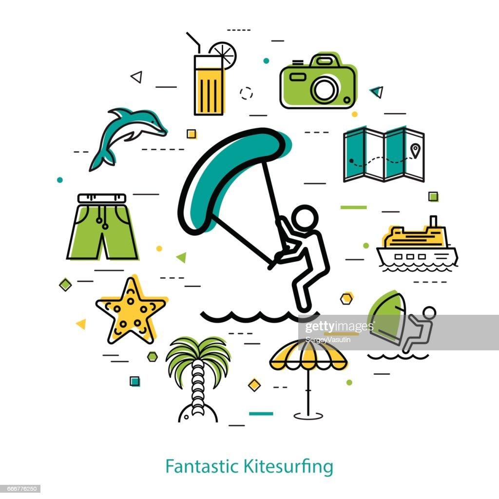 Fantastic Windsurfing - round line concept
