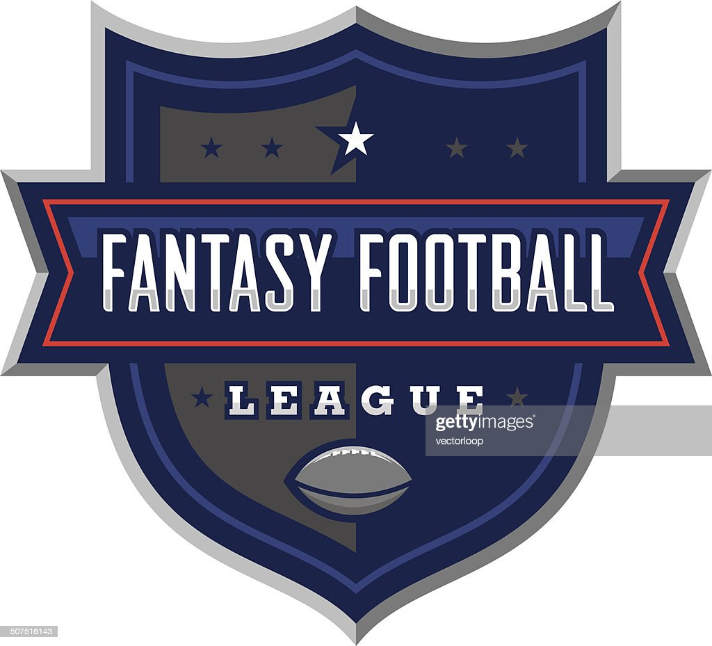 Fantasy Football League Logo : stock illustration