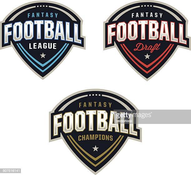 fantasy football logos - american football sport stock illustrations