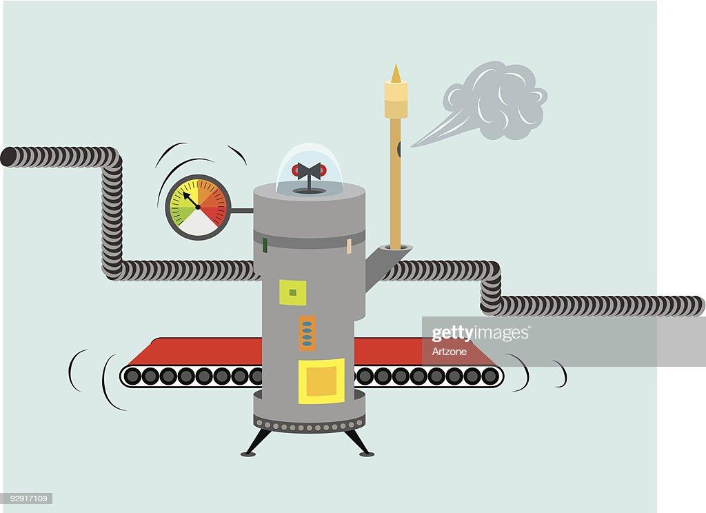 Fantasy industrial machine (vector & jpeg)