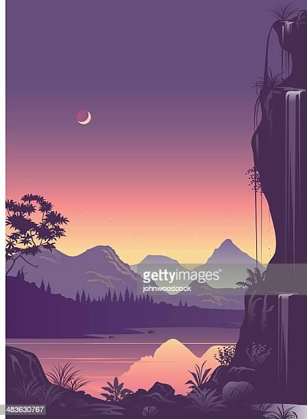bildbanksillustrationer, clip art samt tecknat material och ikoner med fantasy land - idyllisk