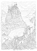 Free download of Unicorn Lineart vector graphics and ...