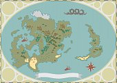 Fantasy Map of Legendary World