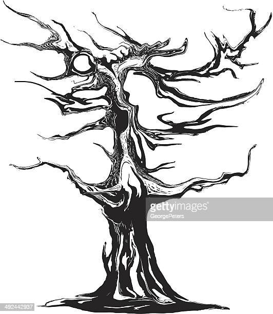 fantasy tree - stretched image stock illustrations, clip art, cartoons, & icons