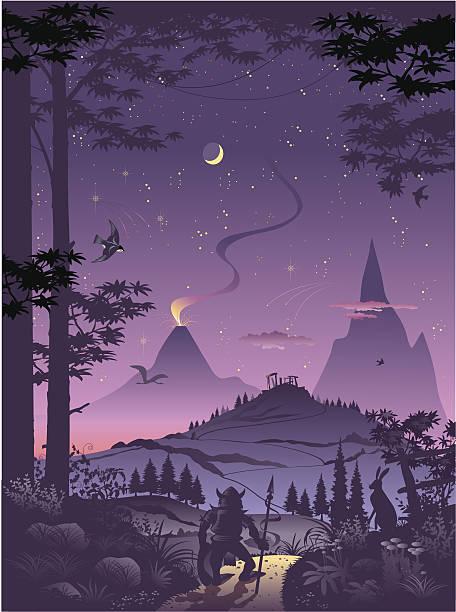 fantasy world - fantasy stock illustrations