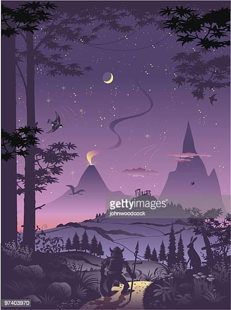 illustrations, cliparts, dessins animés et icônes de fantasy world - imagination
