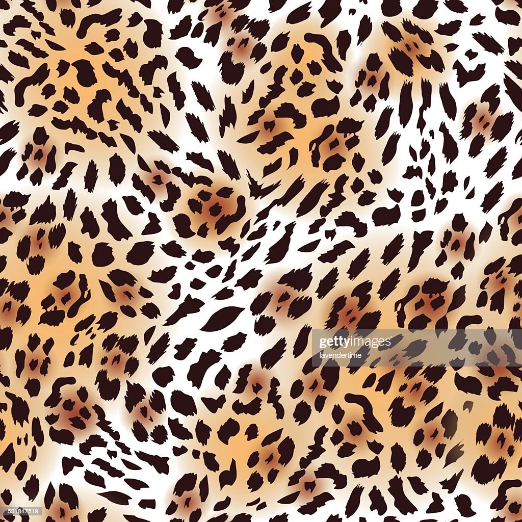 Far Eastern leopard fur seamless vector print, EPS10