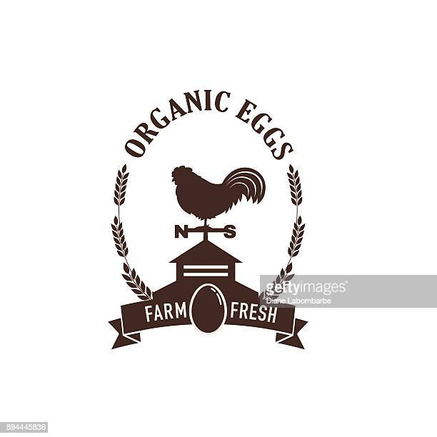 illustrations, cliparts, dessins animés et icônes de farm and agriculture badge or label - girouette