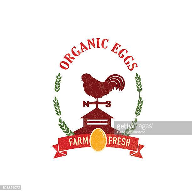 stockillustraties, clipart, cartoons en iconen met farm and agriculture badge or label - cupola
