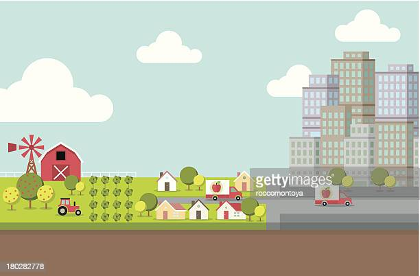 Farm and City