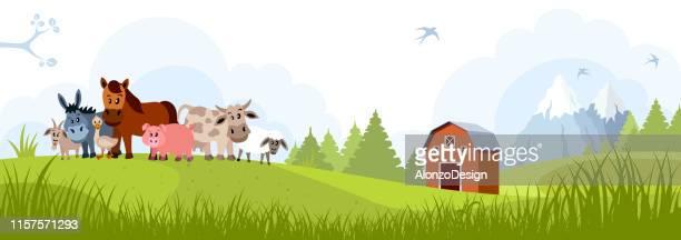 farm and domestic animals - bran stock illustrations, clip art, cartoons, & icons