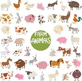 farm animal characters big set