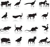Farm Animal Silhouettes