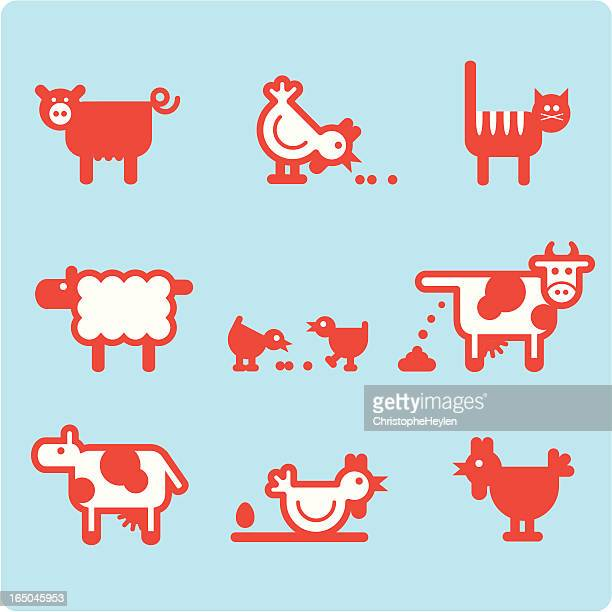 farm animals 03 (vector)