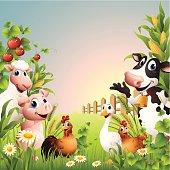 Farm Animals - border